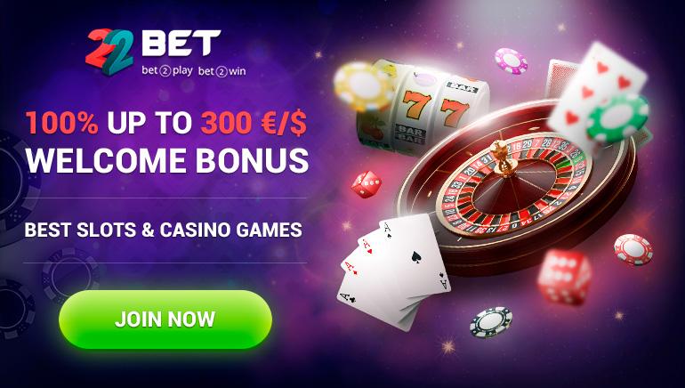 300€/$'a Varan %100 Hoşgeldin Bonusu 22Bet Casino'da Sizi Bekliyor