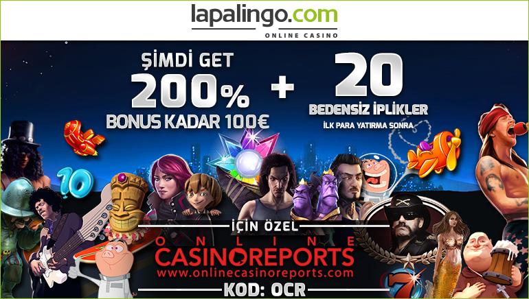 Lapalingo Casino'da Depozitsiz 10 Sterlin Kazanın ve %200 Oranında Hoşgeldin Teklifi Alın